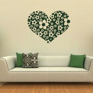 MADE OF FLOWERS WALL ART STICKER DECAL RA38 kids vinyl stencil new