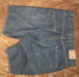 lot of 2 mens karl kani blue jean shorts 40 w x 15 l