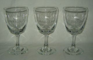 set of 3 clear glass irish coffee stemmed glasses time