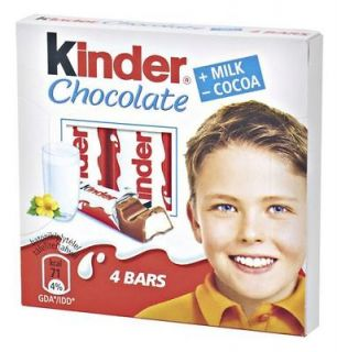 kinder chocolate 50g 4 chocolate bars in a box from