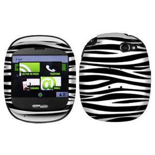 / White Zebra Protector Hard Case Cover For Sharp Kin One Cell Phone