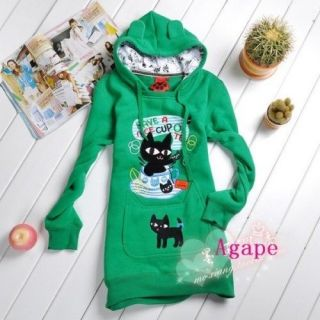 t1519 lovely black cat ears long sleeve hoodie more options