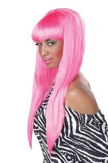 GUM NICKI MINAJ PINK LONG STRAIGHT BANGS WIG HALLOWEEN COSTUME WIG