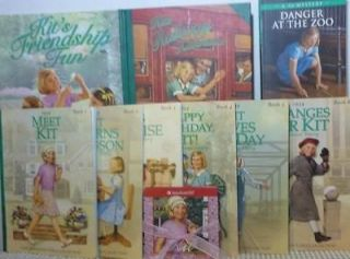 American Girl KIT Lot of 10 Books Original Set of 6 + Danger at the