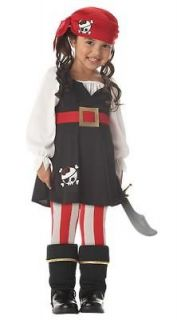 Toddler Girl Pirate Paradise Treasure Island Costume Caribbean Fantasy