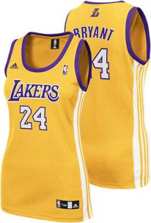 Kobe Bryant Gold adidas Revolution 30 Replica Los Angeles Lakers Women
