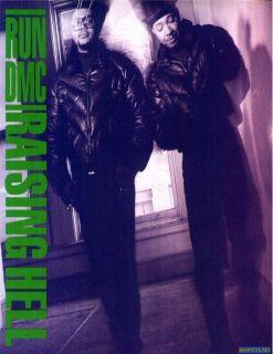RUN DMC raising hell 80s hip hop east coast rap music glossy photo t
