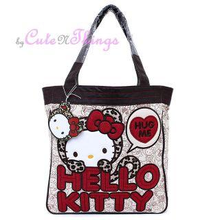 Sanrio Hello Kitty Leopard Hug Me Tote Bag Loungefly Shoulder Bag