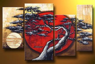 MODERN HUGE ABSTRACT WALL ORNAMENTS CANVAS OIL PAINTING 4PCS( no