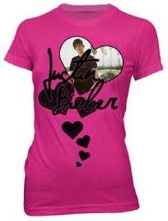 JUSTIN BIEBER   Heart Photo   Girlie T SHIRT top S M L XL Brand New