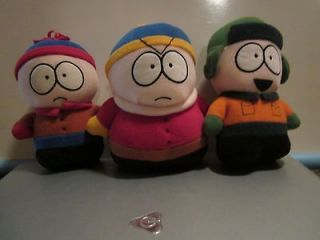SOUTH PARK STAN,KYLE AND 5 INCH PLUSH TOY DOLL FIGURES