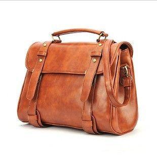 Womens Designer Leather Style Satchel Shoulder Bag Laptop Handbags