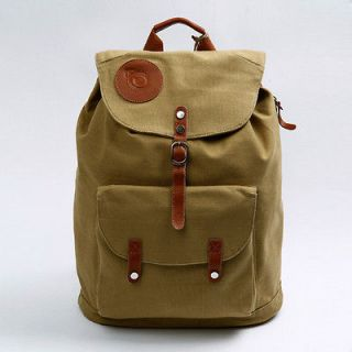 CASUAL BEIGE LEATHER MENS WOMENS BOYS GIRLS LAPTOP BACKPACK BAGS