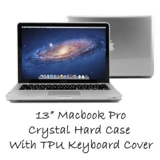 Crystal See Thru Hard Case for MacBook Pro with Keyboard Cover