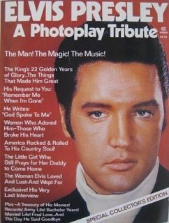 Original 1977 King of Rock and Roll ELVIS PRESLEY Photoplay Tribute