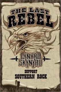 lynyrd skynyrd support southern rock poster music