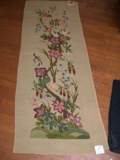 needle point TAPESTRY WALL HANGING RUNNER BIRDS FLORAL Madeira 6