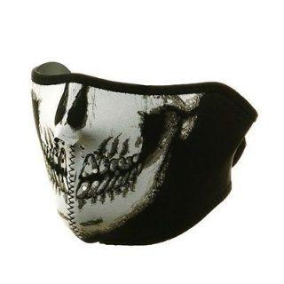 in 1 Reversible Motorcycle Biker, Skiing Neoprene Half Face Mask   B