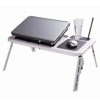 LAPTOP LAP DESK FOLDABLE TABLE E TABLE BED WITH USB COOLING FANS STAND