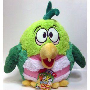 Daddy Birds Soft Toy 12 Plush Green Bird Lollapalooza Koo Koo Sound