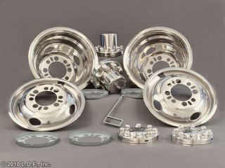 CHEVY FORD DODGE 16/16.5 x 6 Stainless Dually Wheel Simulators Liners