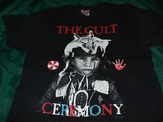 CULT 1991 Ceremony tour t shirt XL love sonic temple electric doors lp