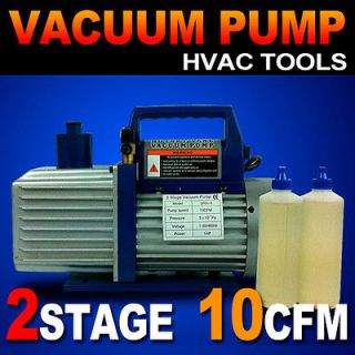 New 2 Stage 1HP Vacuum Pump 10CFM Rotary Vane Deep HVAC Tool AC R410a