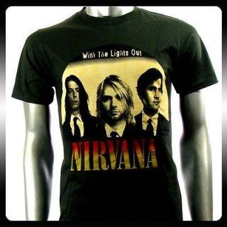 nirvana kurt cobain alternative rock men t shirt sz l punk