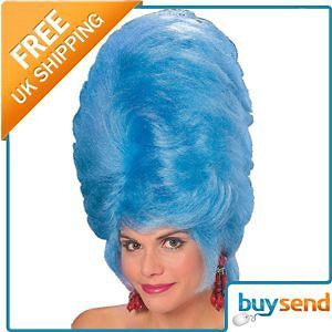 blue beehive wig marge simpson 60s fancy dress costume time
