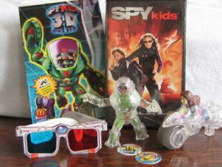 spy kids 3d comics with glasses mcdonald toys vhs time