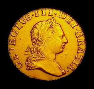 1775 British Half Spade Guinea Gold Coin King George III SECOND BUST
