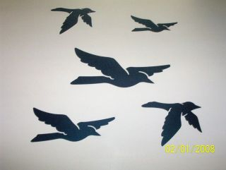 new rv boat car trailer camper graphic decal blue birds