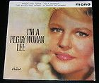 Peggy Lee Im a Woman EP MONO UK Capitol 1857 Mack Knife Alley Cat