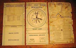 antique hoosier cabinet original door charts vintage 1920 s time