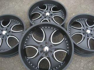 24 kmc venom km755 black chrome 6x139 7 wheels rims