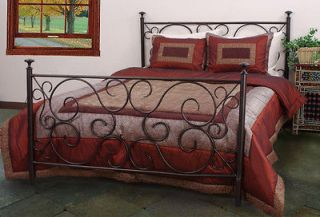 METAL ORNATE COPPER FINISH KING SIZE BED FRAME BEDROOM FURNITURE