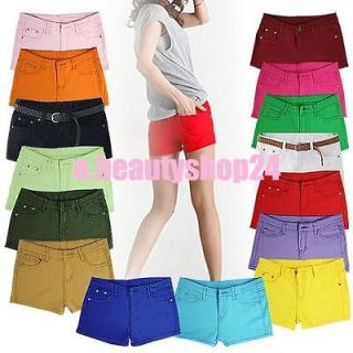 Womens Casual Candy Colours Shorts mini Short Jeans low waisted Summer