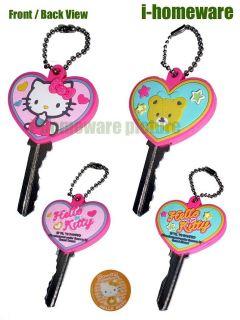 hello kitty sanrio license 2x key cap chain covers h372 from hong kong