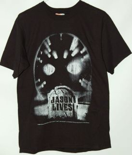 friday the 13th jason lives black t shirt tee vorhees