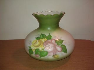 green white floral gwtw hurricane glass lamp shade for 7