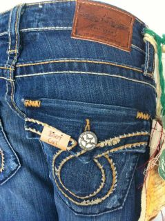 Premium Womens Big Star Jeans Liv Flap Boot Cut 6WLIFPU 24 25 27 Long