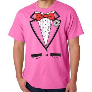 tuxedo t shirt pink bachelor party wedding prom new xl