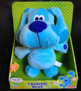 Clues Talking Blue Plush Dog Fisher Price Nick Jr Stuffed Toy Blues