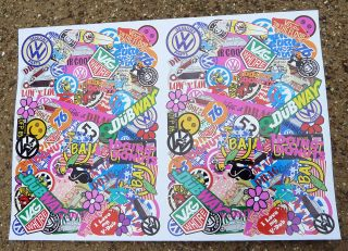 VW RC STICKER BOMB A4 SHEET TAMIYA SAND SCORCHER MONSTER BEETLE BAJA