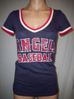NWT VICTORIAS SECRET PINK LOS ANGELES ANGELS PLAY BALL T SHIRT