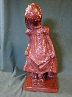 Vintage Plaster Austin Prod Inc Little Girl with Big Shoes 1972