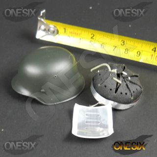XB78 64 1/6 Scale HOT Dragon WWII German Metal Helmet TOYS