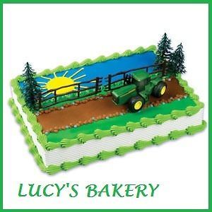 PARTY BIRTHDAY FAVORS CAKE TOPPER KIT JOHN DEERE TRACTOR FARM BIRTHDAY