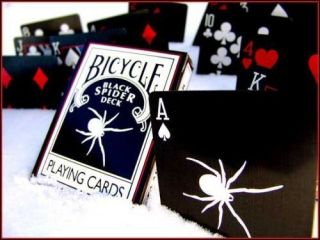 rare black spider deck bicycle playing cards w 4 gaff