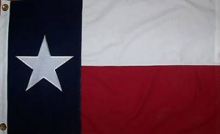 heavy cotton 3 x 5 texas state flag sewn lonestar